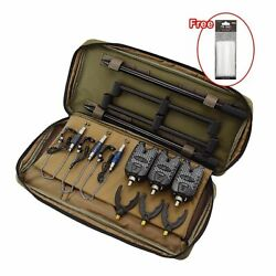Carp Fishing Alarm Kit Swingers Rod Rest With Portable Tackle Bag Buzz Bars New