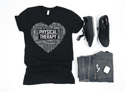 Premium Pt Physical Therapy Heart Gift T Shirt Therapist Graduation Graduate
