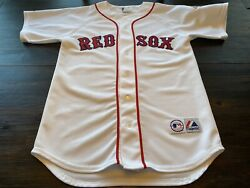 Mlb Boston Red Sox Roger Clemens Mens Majestic 1987 Stitched Jersey- Size Medium