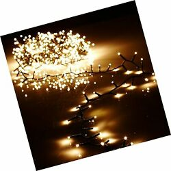 Raz 36.5' Warm White Compact Led 500 Light Garland With Green Wire And Remote...