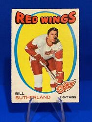 1971-72 O-pee-chee Bill Sutherland Card 141 Detroit Red Wings Opc Creases