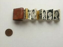 Beatles 1964 Brown Mini Leather Photo Book Locket 1quot; with fold out photos