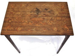 19th Century Inlay Walnut Marquetry Writing Table - Project