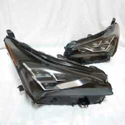 2018 - 2020 Lexus Nx300h Headlight Right + Left Pair With Led Computer Oem