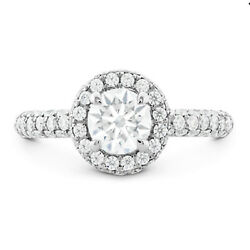 Round 1.15ct Women Real Solitaire 950 Platinum Diamond Engagement Ring Size 6