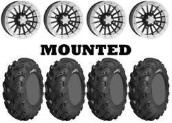 Kit 4 Gbc Dirt Devil Tires 26x10-12 On Itp Sd Beadlock Polished Wheels Pol