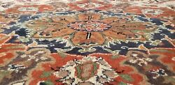 Beautiful Cr1900-1939s Antique Wool Pile Muted Colors Bunyan Area Rug 6'8×9'8