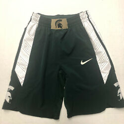 Nike Michigan State Spartans Authentic On-court Performance Shorts Small
