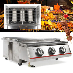 Outdoor Tabletop 3burner Gas Grill Outdoor Bbq Grill Cooker Stainless Steel Sale