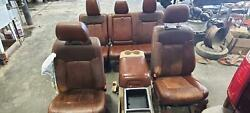 2011-2016 Ford F250 F350 Super Duty Seat Set W/bag, King Ranch, Leather
