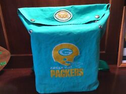 Vince Lombardi Era Vintage 1960s Green Bay Packers Old Logo Canvas Back Pack