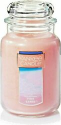 Yankee Candle Large Jar Candle Pink Sands Long lasting 110 to 150 hour Burn Time