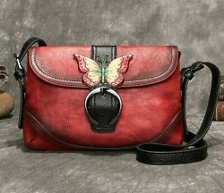 Luxurious Retro First Layer Cow Leather Women Bag 2020 New Hand Painted Leisure