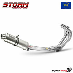 Storm By Mivv Oval Inox Full Exhaust System Homologated For Yamaha Mt09 2013