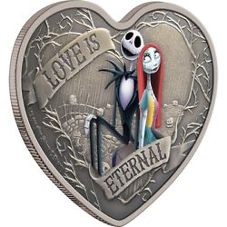 Niue 2021 - The Nightmare Before Christmas Love Is Eternal Disney 2 Silver Coin