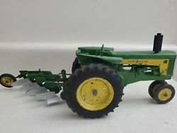 John Deere Tractor W/ 3-point Hitch 730 Vintage W 4 Bottom Plow 1/16 1950and039s