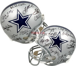 Dallas Cowboys Greats Autographed Full Size Replica Helmet With 24 Signatures