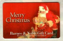 Barnes And Noble Merry Christmas Santa Claus 2011 Gift Card 0