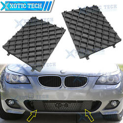 For Bmw E60 E61 M Sport Front Bumper Lower Mesh Grill Trim Cover Pair Lh+rh