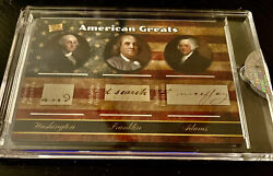 2020 The Bar Pieces Of The Past Washington / Adams / Franklin Triple Relic Ssp