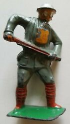 American Metal Co. Lead Toy Soldier Rare Am26 German Gasmask Barclay Manoil