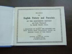Vtg 1954 Marks On English Pottery And Porcelain Of The 18th Century And Early 19th