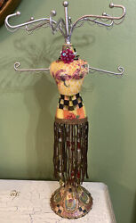 My Own Mannequin Jewelry Earring Necklace Holder And Mackenzie-childs Decoupage 2