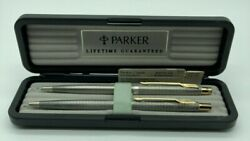 Parker Classic Sterling Silver Ball Pen And 0.5mm Pencil Set New In Box