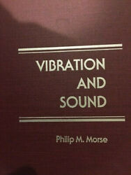 Vibration And Sound Philip M. Morse Hardcover Book Acoustical Society Of America