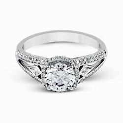 14 K White Gold 1.80 Ct Real Diamond Solitaire Women Engagement Ring Size 6 5