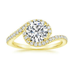 Christmas Round Cut 18k Yellow Gold 0.70 Ct Wedding Solitaire Real Diamond Ring