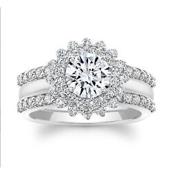 Real 1.32ct Natural Solitaire Diamonds Engagement Ring 18k White Gold Size 6 7 8
