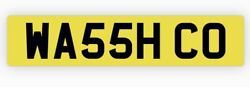 Private Number Plate Wa55 Hco Car Valet Detail Wax Clean Window Cleaner Water