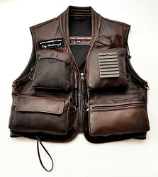 Leather Vest From Carpathian Deer Natural Leather