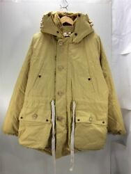 Nigel Cabourn Auth 2017aw Down Jacket Ivory 80350030002 Size 52 Used From Japan