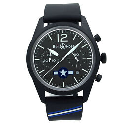 Bell And Ross Insignia Us Steel Black Dial Automatic Mens Watch Brv126-bl-ca-co/us