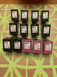 Hp Ink 24 Empty Used 61 + 92 Black And 61 + 93 Tri Color Ink Cartridges