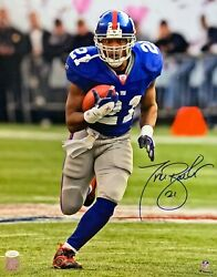 Giants Tiki Barber Signed 16x20 Photo 1 Auto - 3 X Pro Bowler Ring Of Honor Jsa