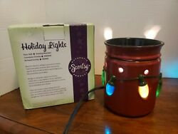 CHRISTMAS Holiday Lights SCENTSY Warmer Full Size RETIRED NEW IN BOX