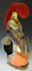 Medieval Knight Cuirass Of The French Cuirassiers 19th Century With Helmet