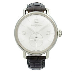 Bell And Ross Argentium Ww1 Silver Dial Hand Wind Mens Watch Brww1-me-ag-si/scr