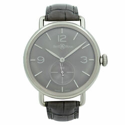 Bell And Ross Steel Argentium Ruthenium Dial Hand Wind Watch Brww1-me-ag-ru/scr