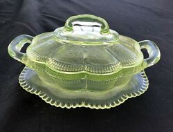 Rare Antique Bryce Bros Lorne Pattern Covered Butter/honey Dish Circa 1880's