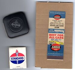 Amoco Standard Oil Tape Measure And Old Matchbooks