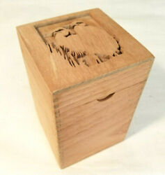 Rare And Collectible Hand Carved Cigar Box - 2 Cranes - Empty Wooden Cigar Box