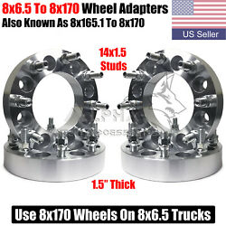 4 Wheel Adapters 8x6.5 To 8x170 Use Ford 8x170 Wheels On 8x6.5 Trucks 1.5 Thick