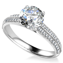 Real 14k White Gold Diamond Solitaire 1.52 Ct Engagement Valentine Rings 5 6 7 8