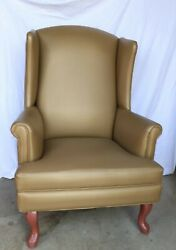 Wingback Gold And Copper Metallic Ball Foot Lounge Chairs For Sale