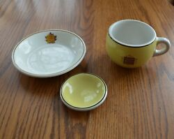 3 Pieces Canadian National Railways And Hotel China