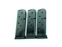 Pack Of 3 1911 Compact/ Officer Magazine 7 Round 45 Acp Fit Colt Kimber Sig Et
